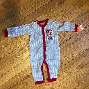 button-up baseball pajamas